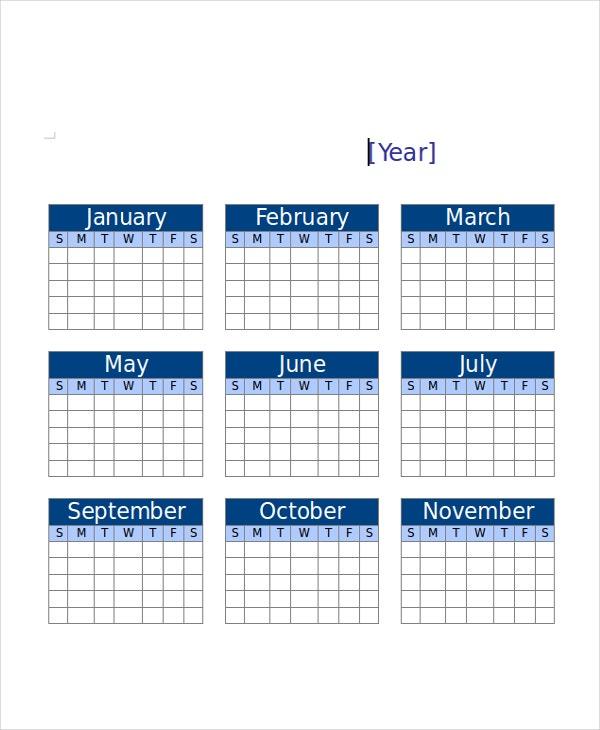 Printable Calendars 18 Free Psd Vector Ai Pdf Word