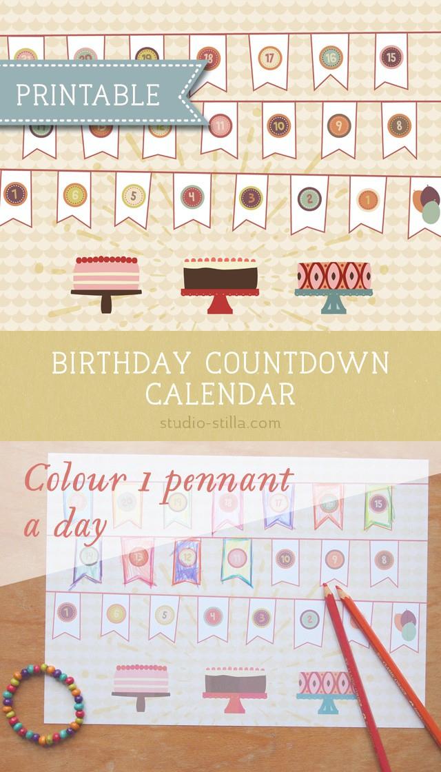 Printable Countdown Calendar For Kids Calendar 2021