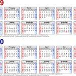 Printable Year At A Glance Calendar 2019 2020 Calendar