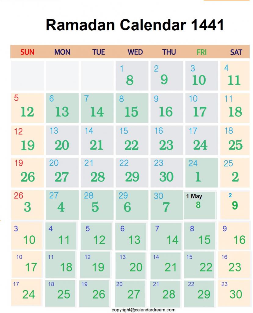 Ramadan In Usa 2020 Calendar Calendar Template 2021 1