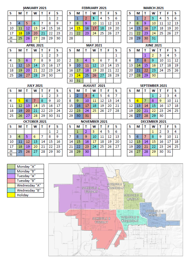 Recycling Schedule A Springville City