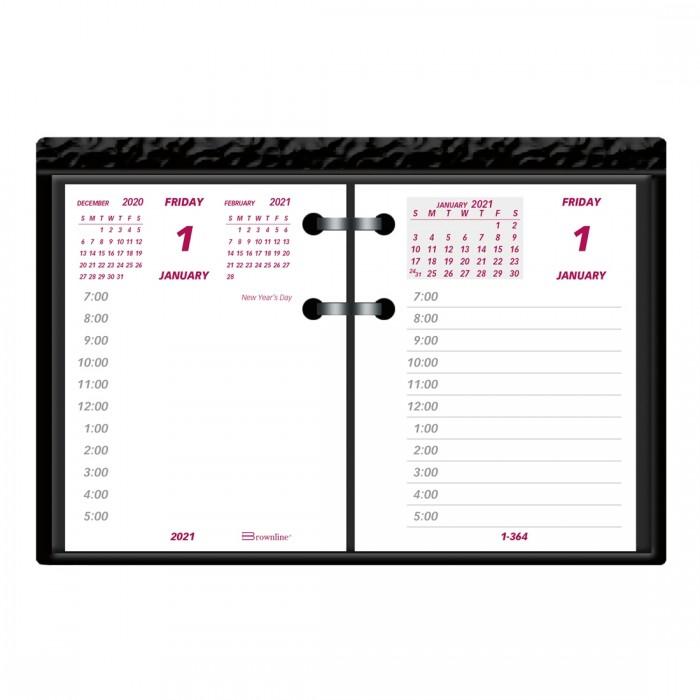 Refill 2021 For Daily Desk Calendar C1s Brownline
