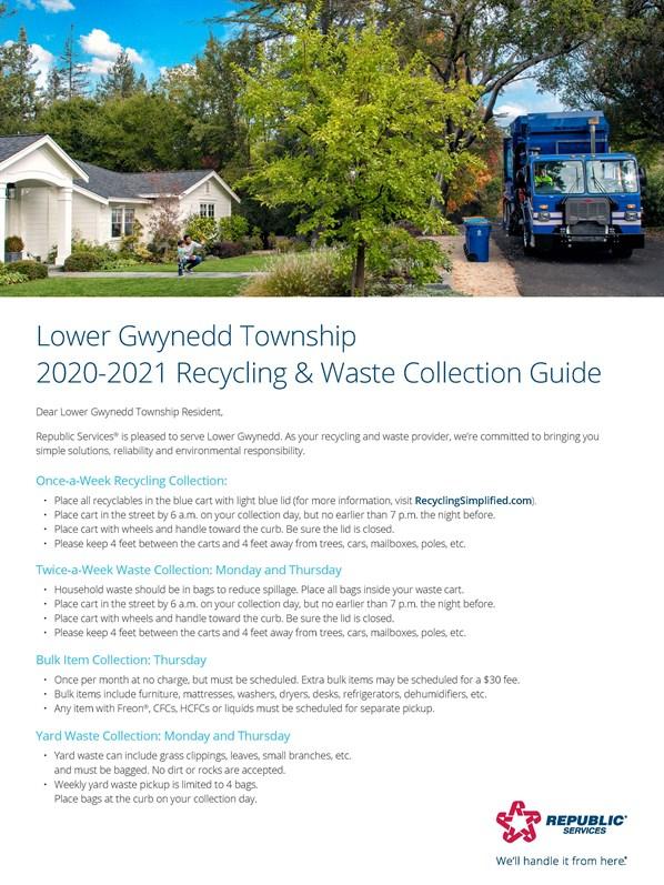Republic Services Trash Receptacles Lower Gwynedd Township