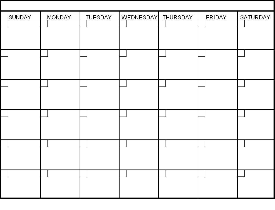 Revolutionize School Blank Calendar Template Printable