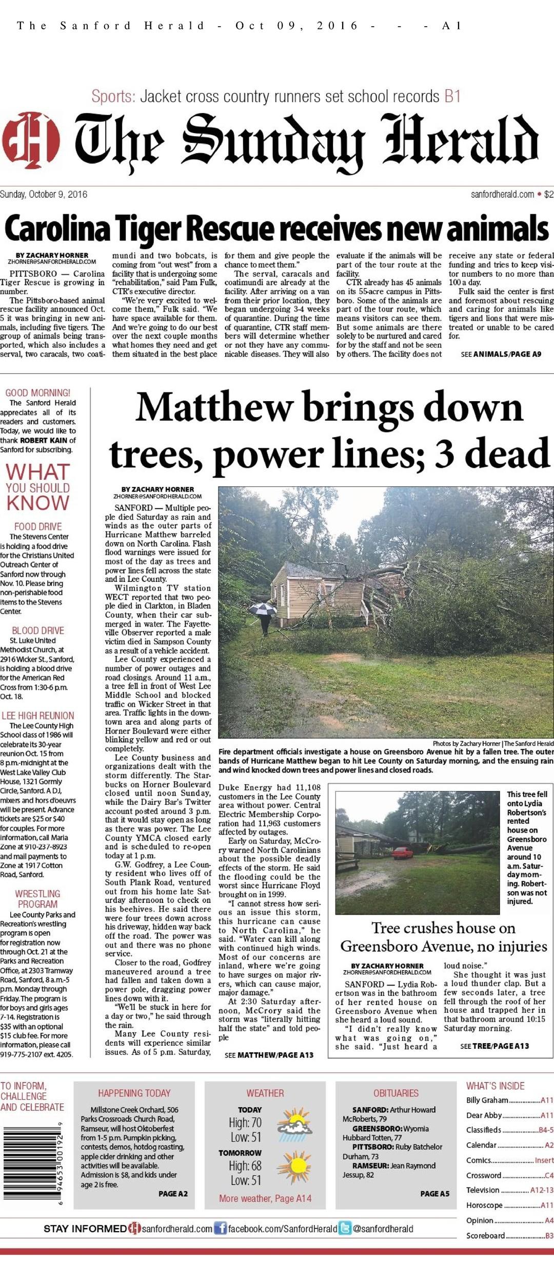 Sanford Herald North Carolina Press Association