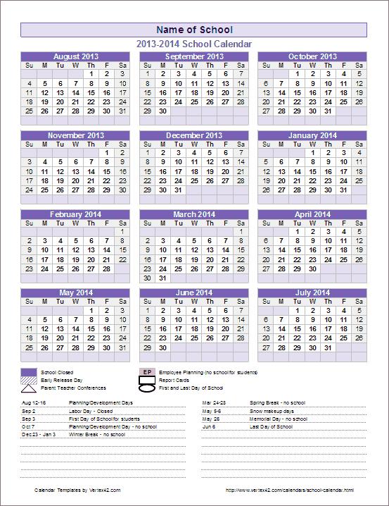 School Year Calendar Free You Calendars