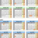 Split Year Calendars 2012 13 Uk July To June For Excel