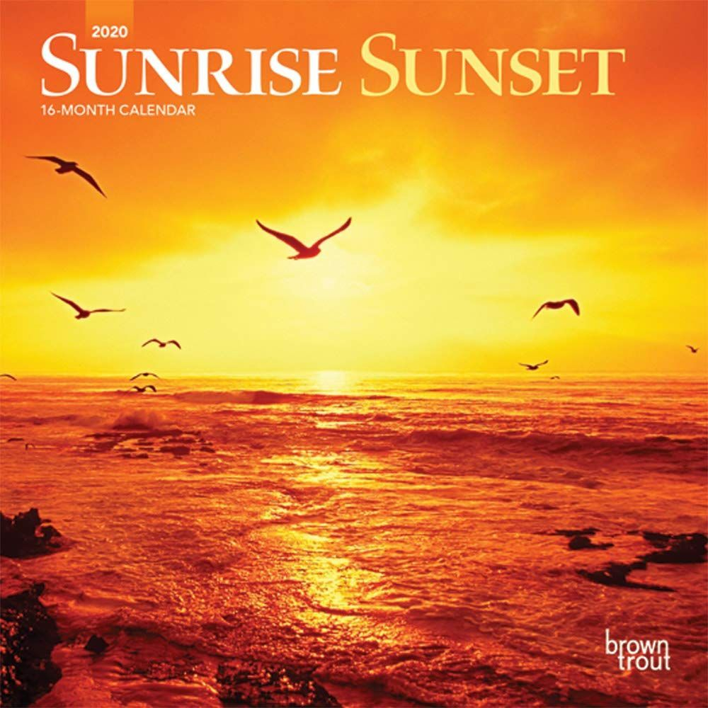 Sunrise Sunset 2020 Mini Wall Calendar In 2020 With