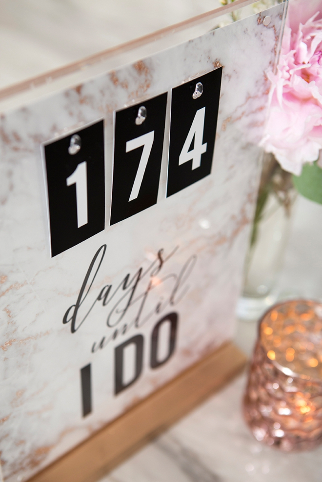 This Diy Wedding Countdown Sign Is The Absolute Cutest