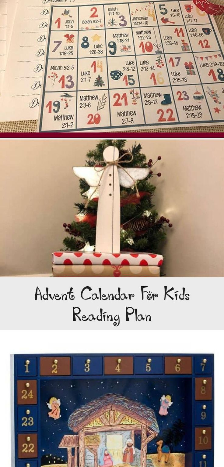 This Free Printable Advent Calendar For Kids Is A Reading