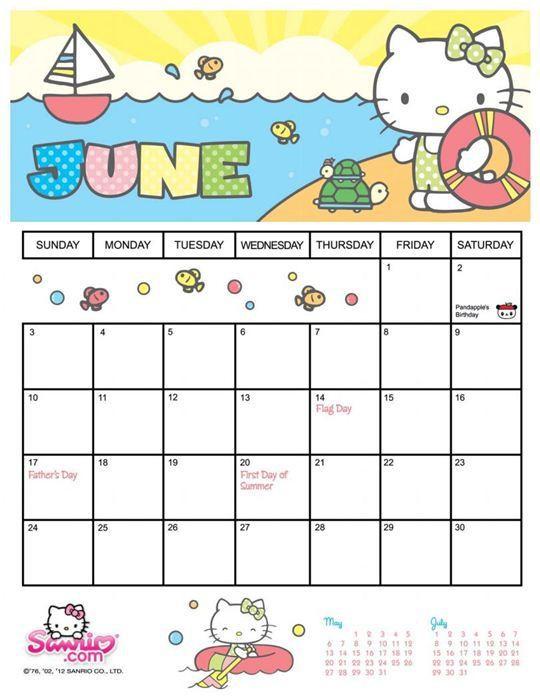 Unique Sanrio Printable Calendar Calendar 2021