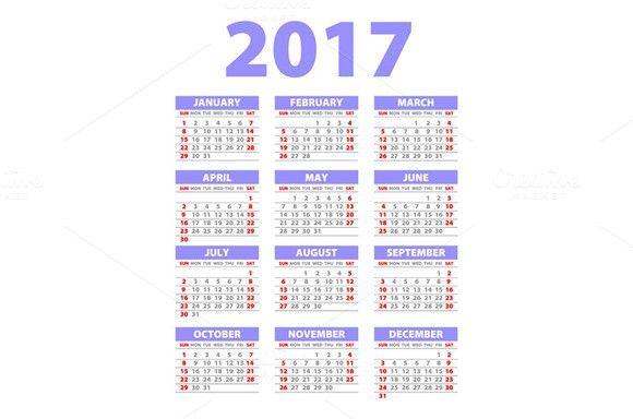 Violet Calendar For 2017 Pink Calendar Calendar 2017 Green Calendar