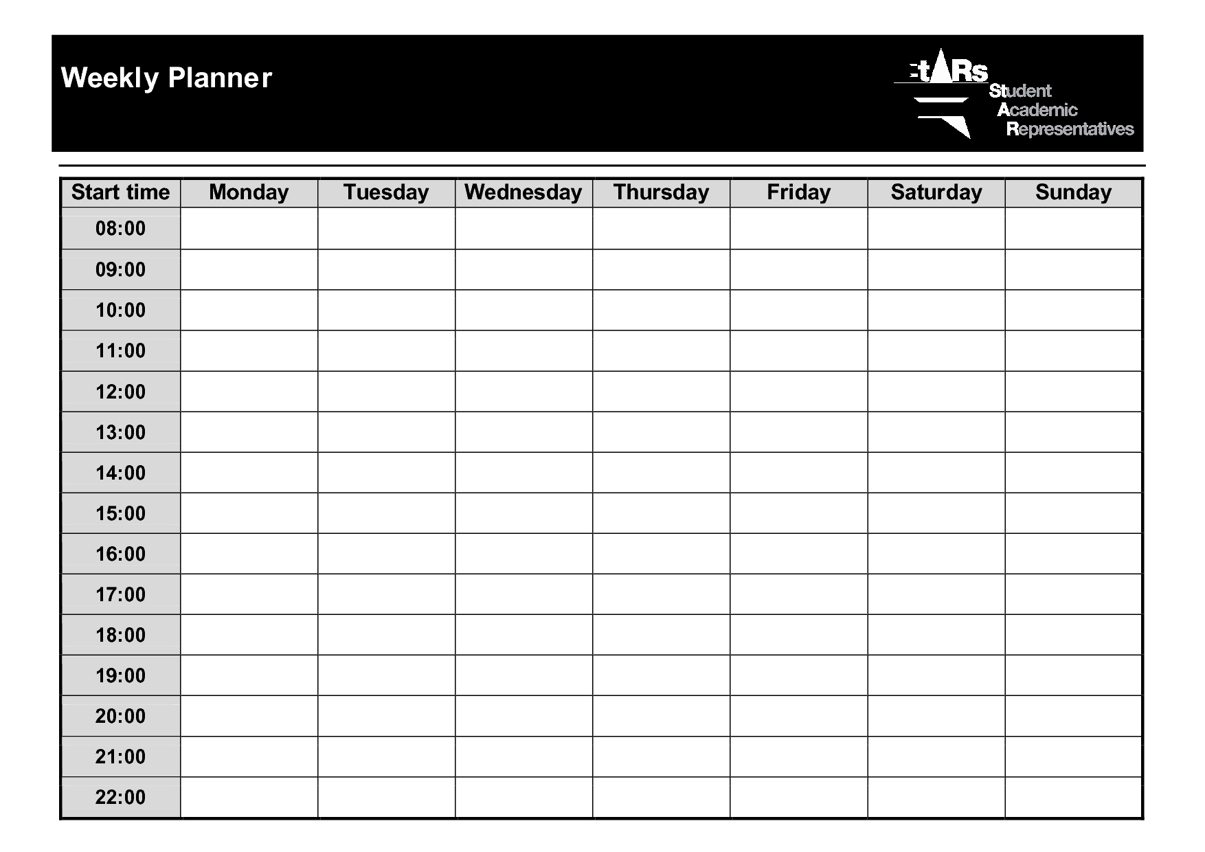 Weeklyplannertemplatepdf With Images Weekly Planner