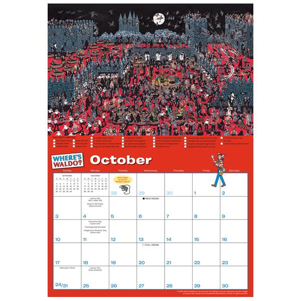 Wheres Waldo 2021 Wall Calendar Rsvp