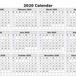 Year Calendar Free Printable 2020 Calendar Printables