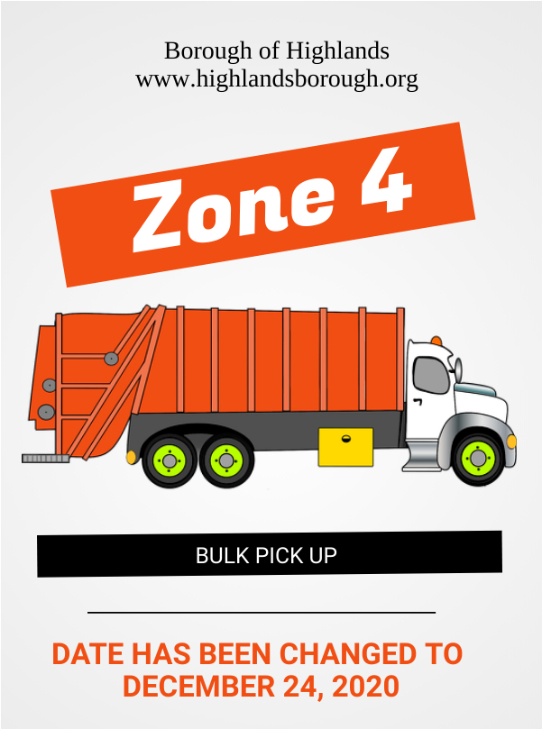 Zone Four Bulk Pickup Schedule Change Borough Of