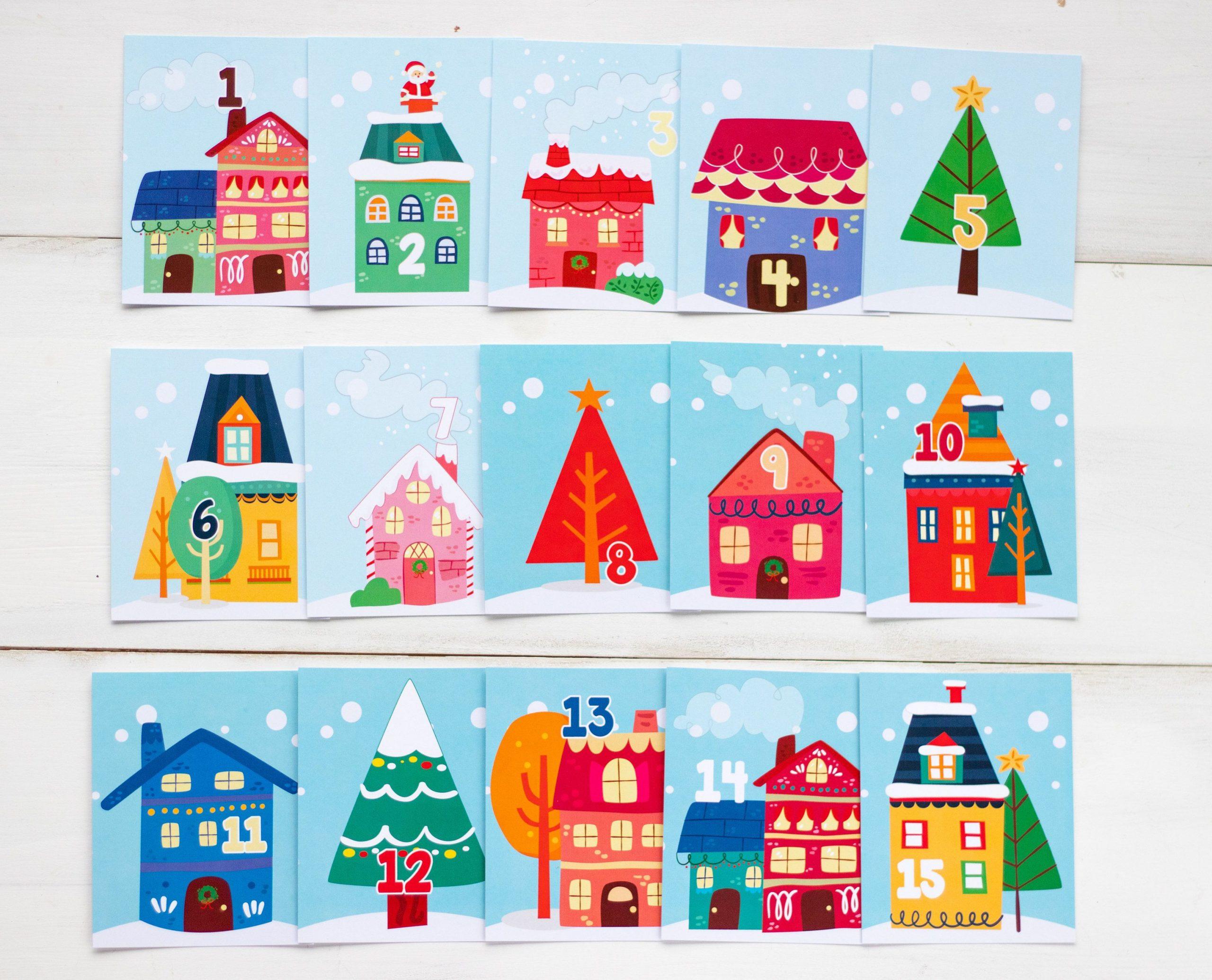 12 Days Of Christmas Cards Printable Christmas Tags Advent