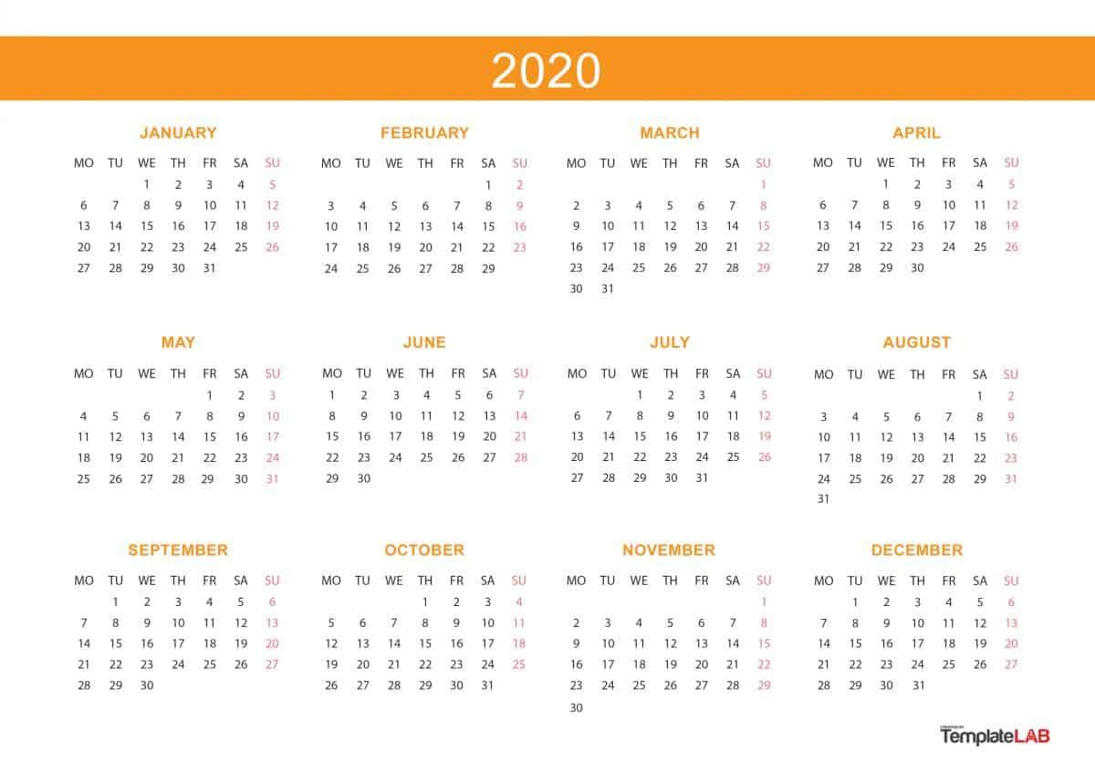 2020 calendar printable legal size example calendar