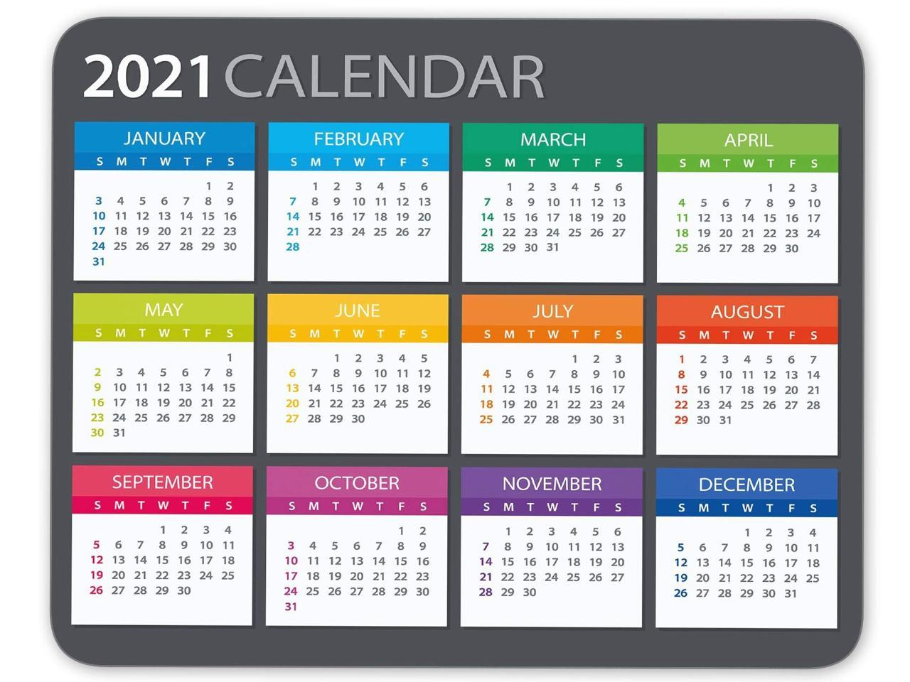 2021 Calendar Mouse Pad Gaming Mouse Pad Office Mouse Pad