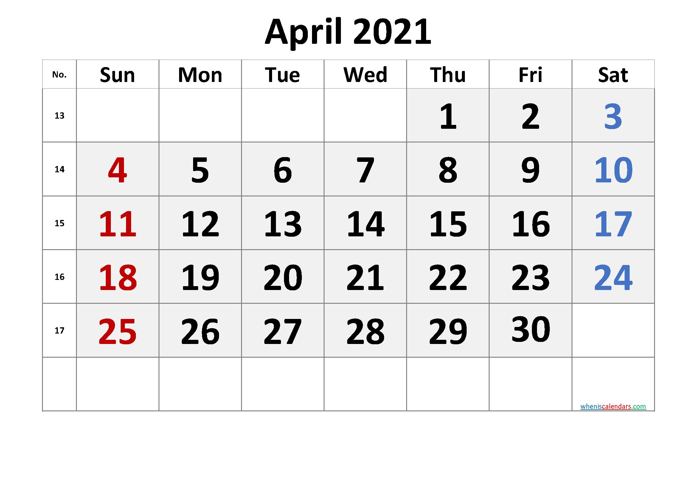 2021 Calendar With Week Number Printable Free Week