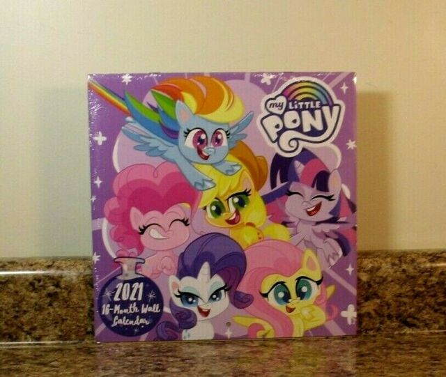 2021 My Little Pony Calendar 16 Month Wall 10 Inches For 1