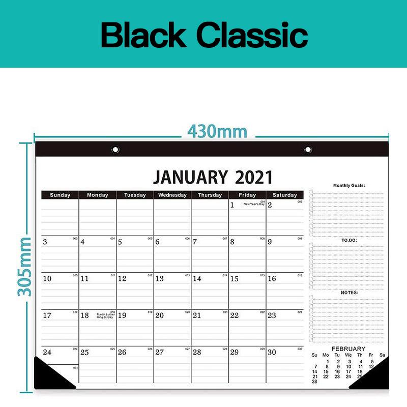 2021 Wall Calendar Office Wall Calendar Redusted