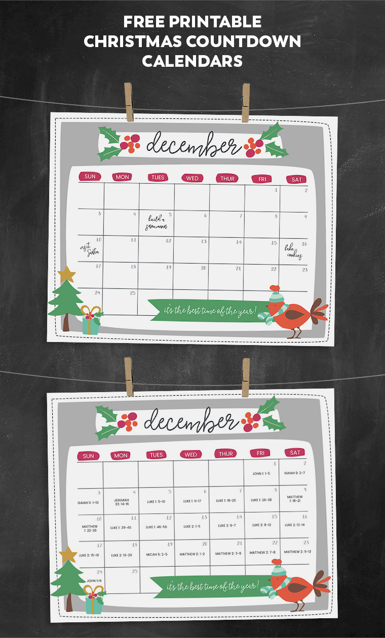 30 Best Free Print Ready Christmas Resources 2017