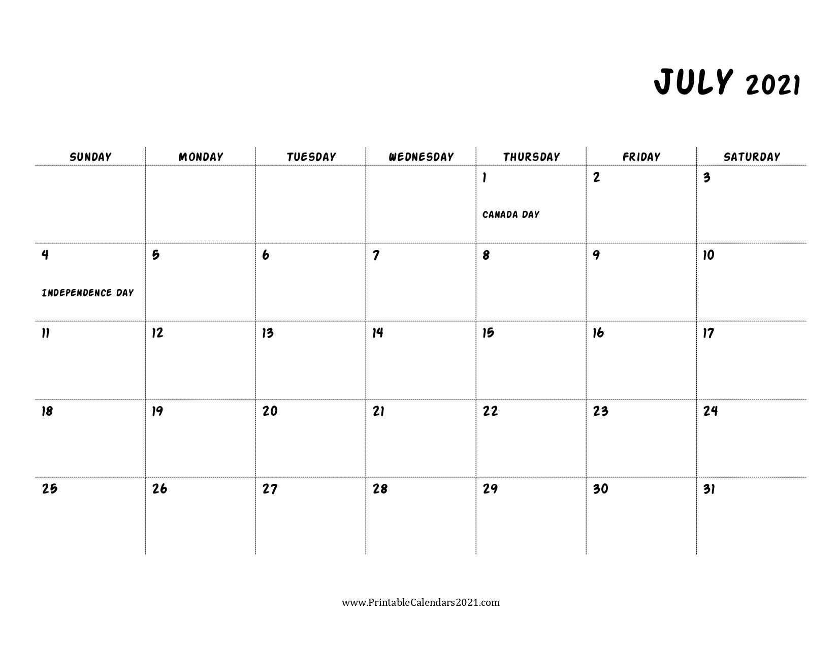 45 July 2021 Calendar Printable July 2021 Calendar Pdf 1