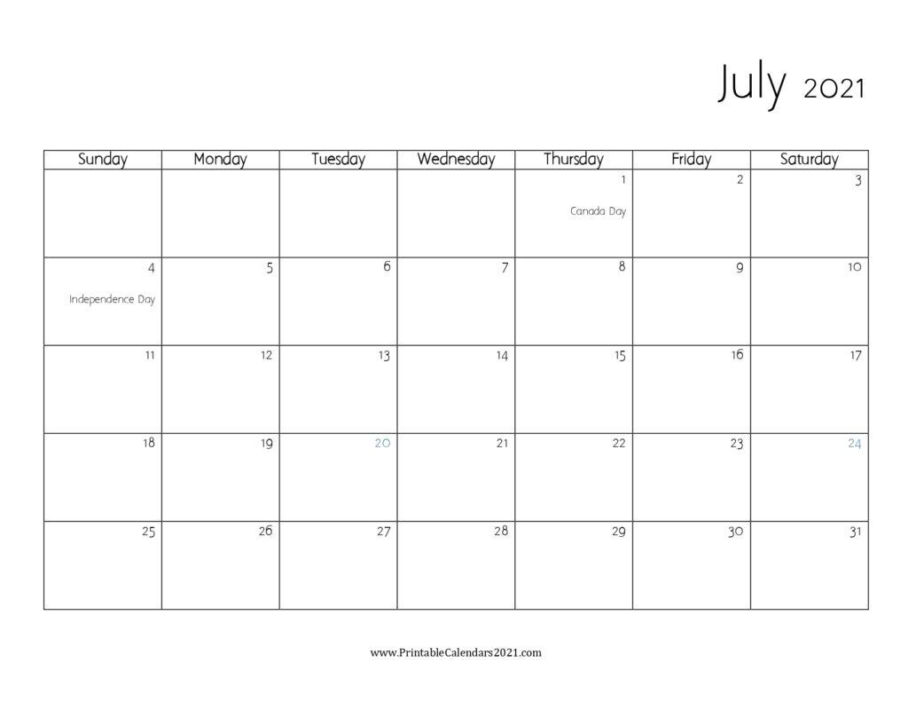 45 July 2021 Calendar Printable July 2021 Calendar Pdf 2