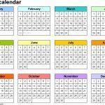 5 Year Calendar Planner Month Calendar Printable