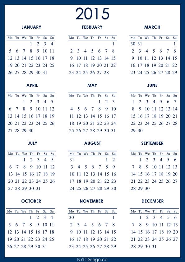 5 Year Calendar Printable Calendar Template 2021