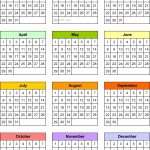 5 Year Monthly Calendar Yearly Calendar Template