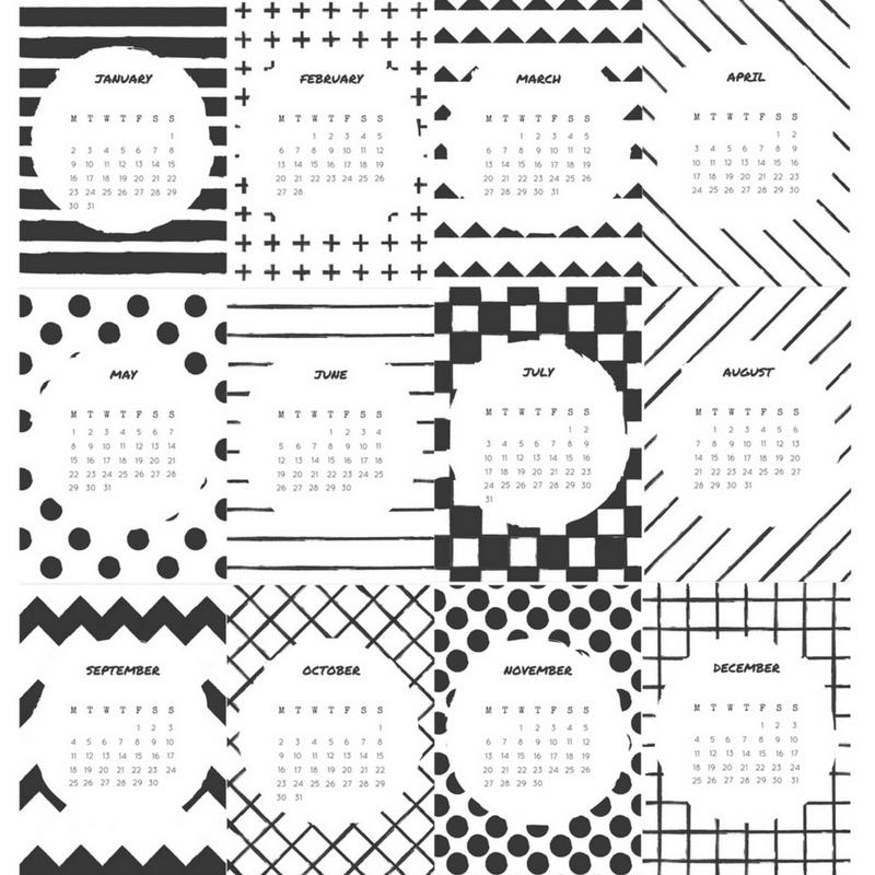 50 2017 Free Printable Calendars Lolly Jane
