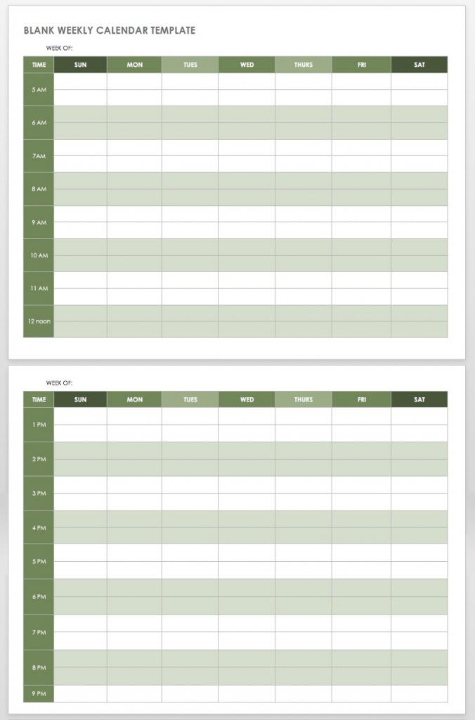 5am Club Printable Weekly Hourly Schedule Calendar 1
