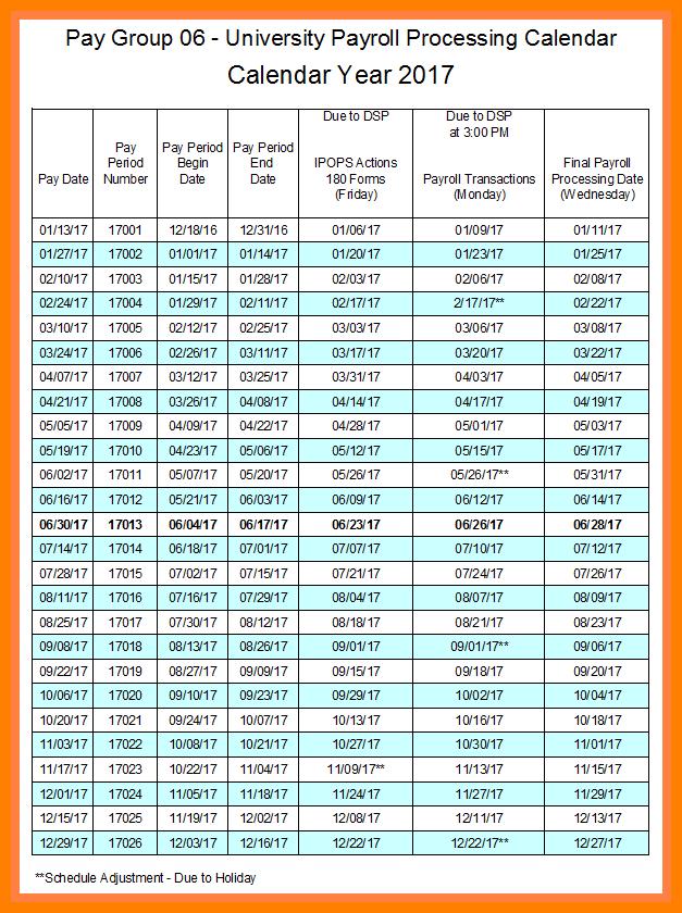 6 Bi Weekly Payroll Calendar Pay Stub Format