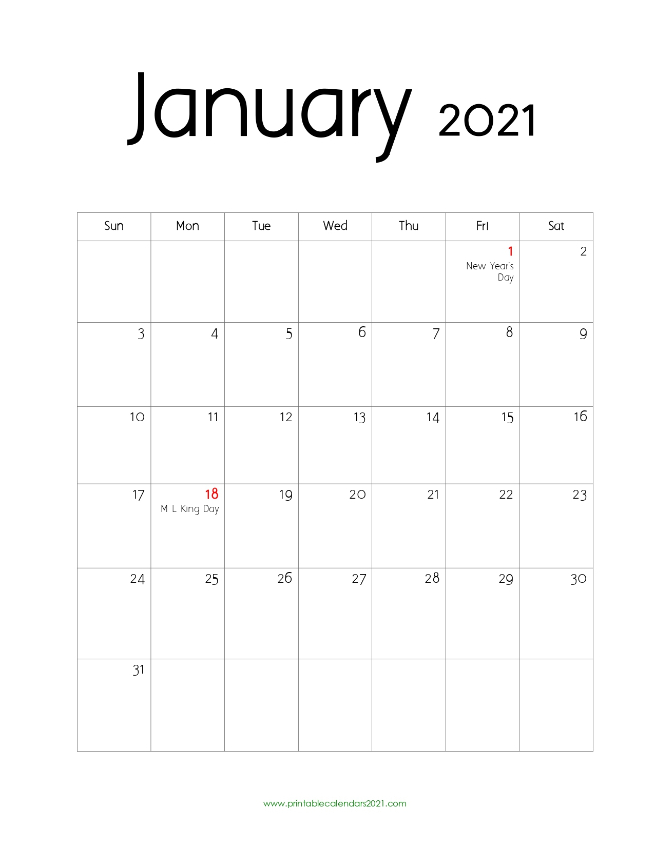 65 January 2022 Calendar Printable January 2022 Calendar