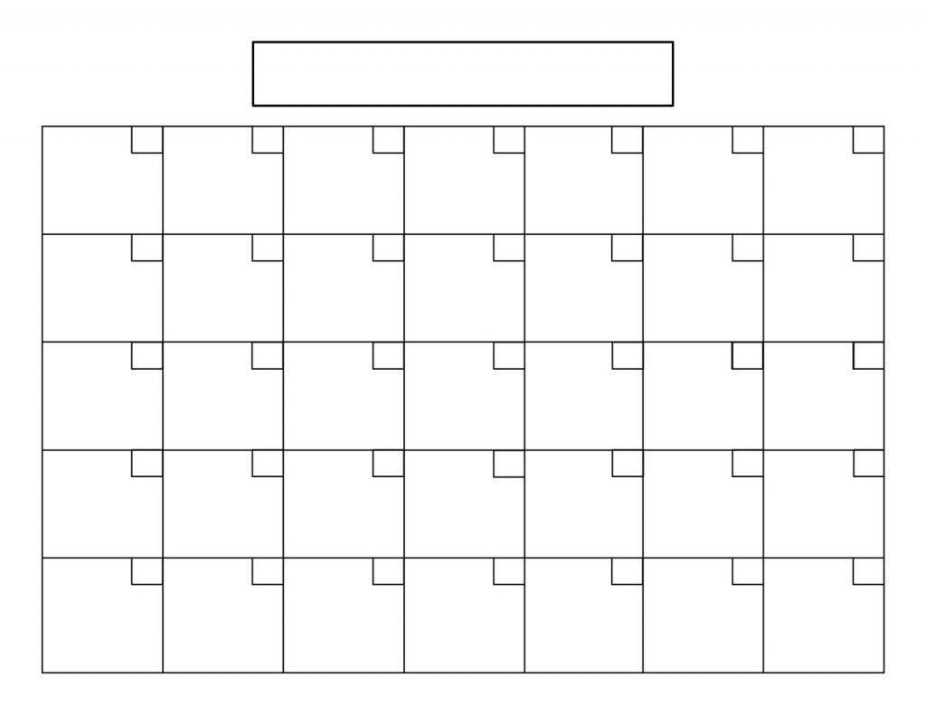 8 5 X 11 Blank Calendars To Print Calendar Template 2021 2