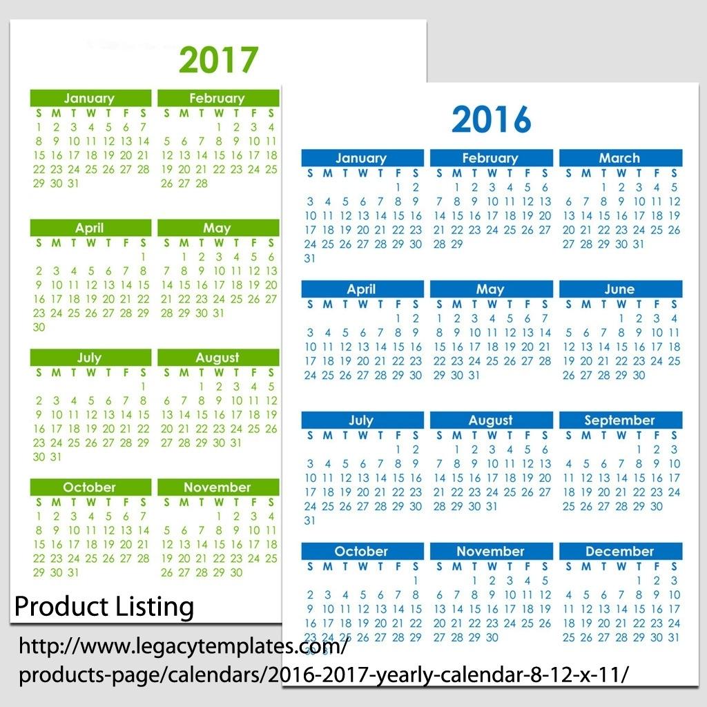 8 5 X 11 Year Calendar Ten Free Printable Calendar 2020