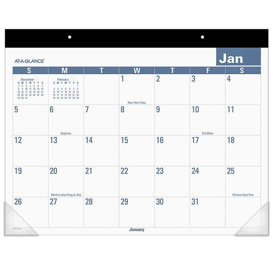 At A Glance Sklp2432 22 X 17 Easy To Read Monthly