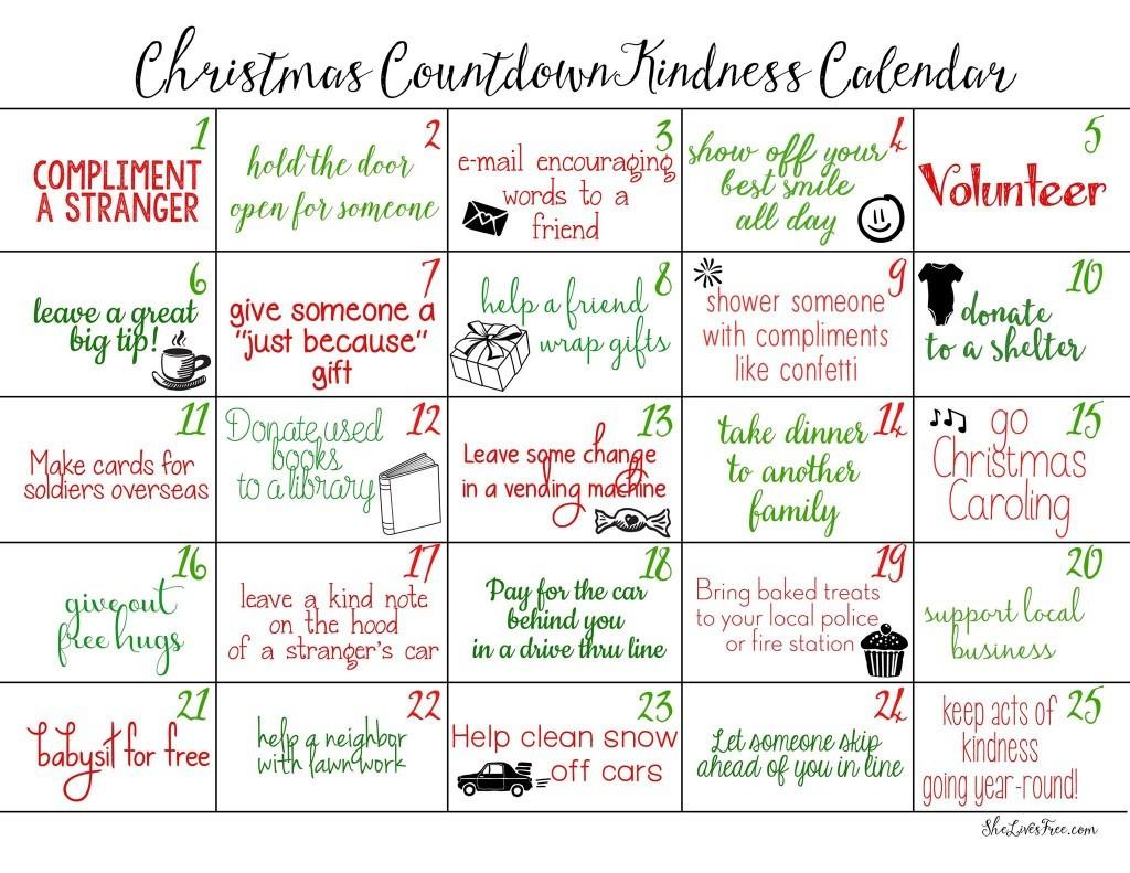 Awesome Countdown Calendar Printable Free Printable