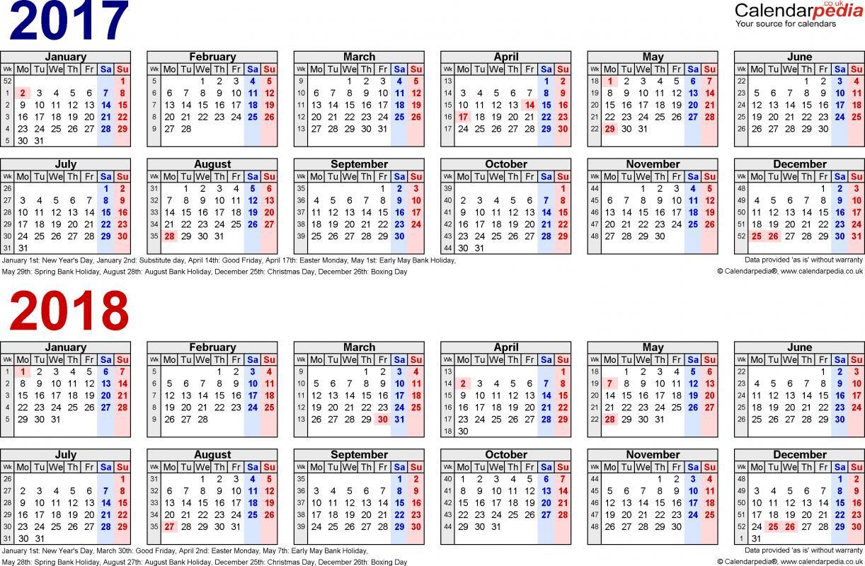 Bi Weekly Pay Calendar Template Business