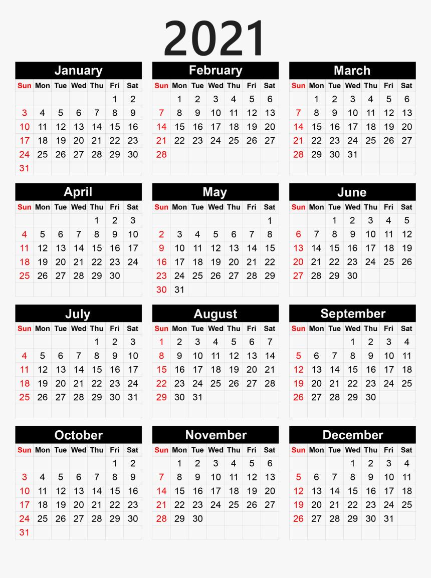 Calendar 2021 Png Pocket Calendar 2020 Printable