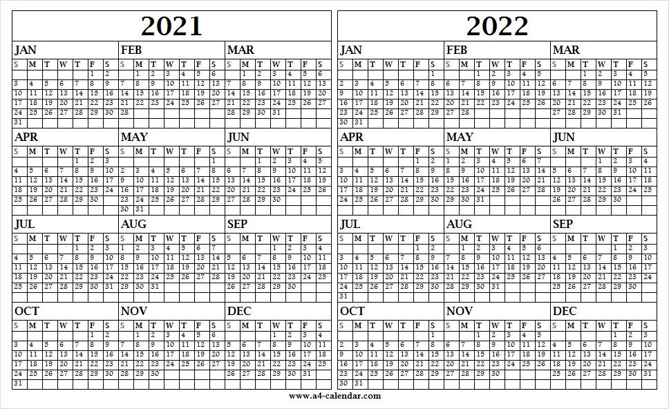 Calendar 2021 To 2022 Download Printable Calendar Template