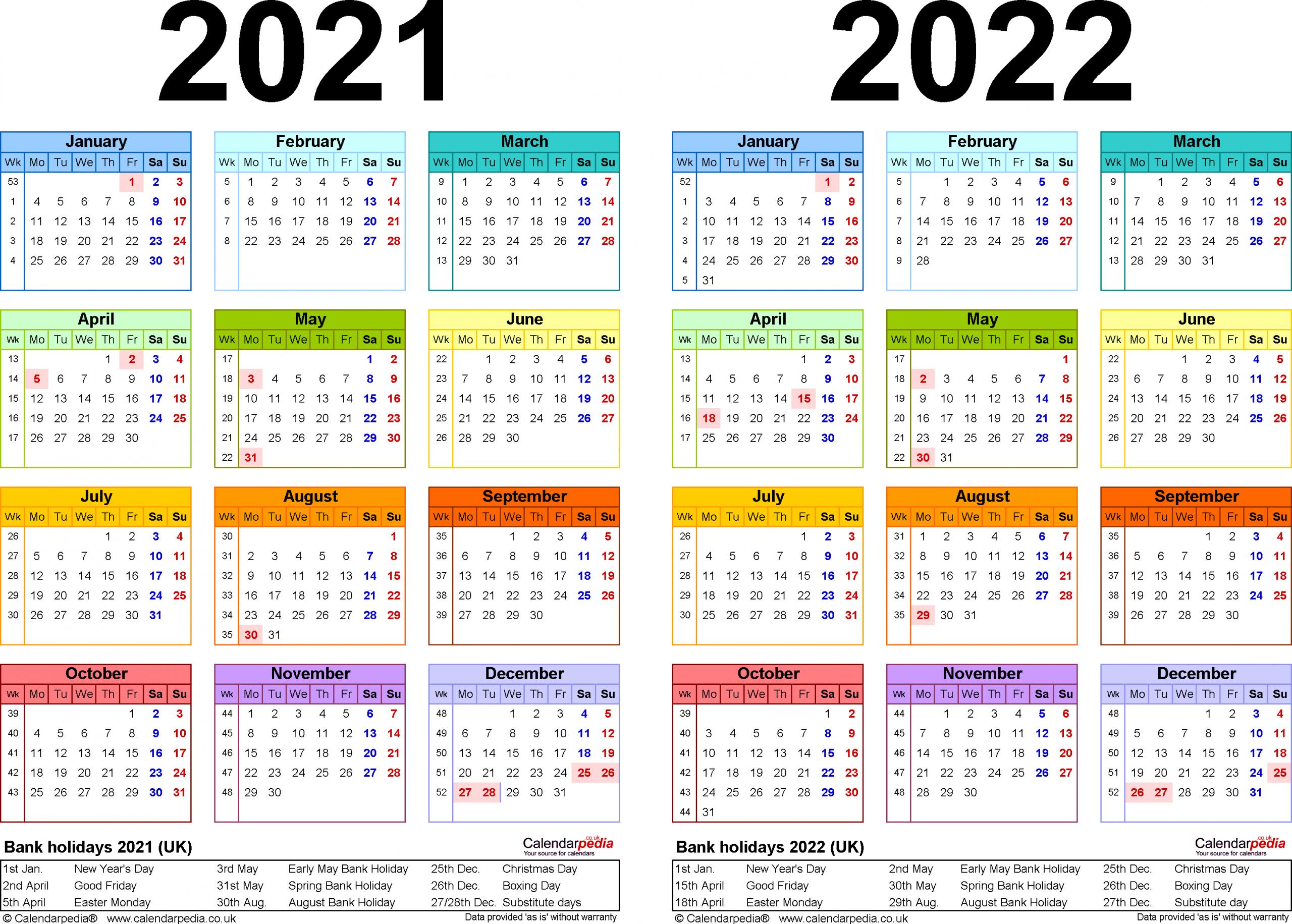 Catch 2 Year Calendar 2020 2021 Calendar Printables Free