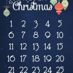 Christmas Countdown Calendar Free Printable How To Nest