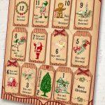 Christmas Countdown Tags Printable Advent Calendar Tags