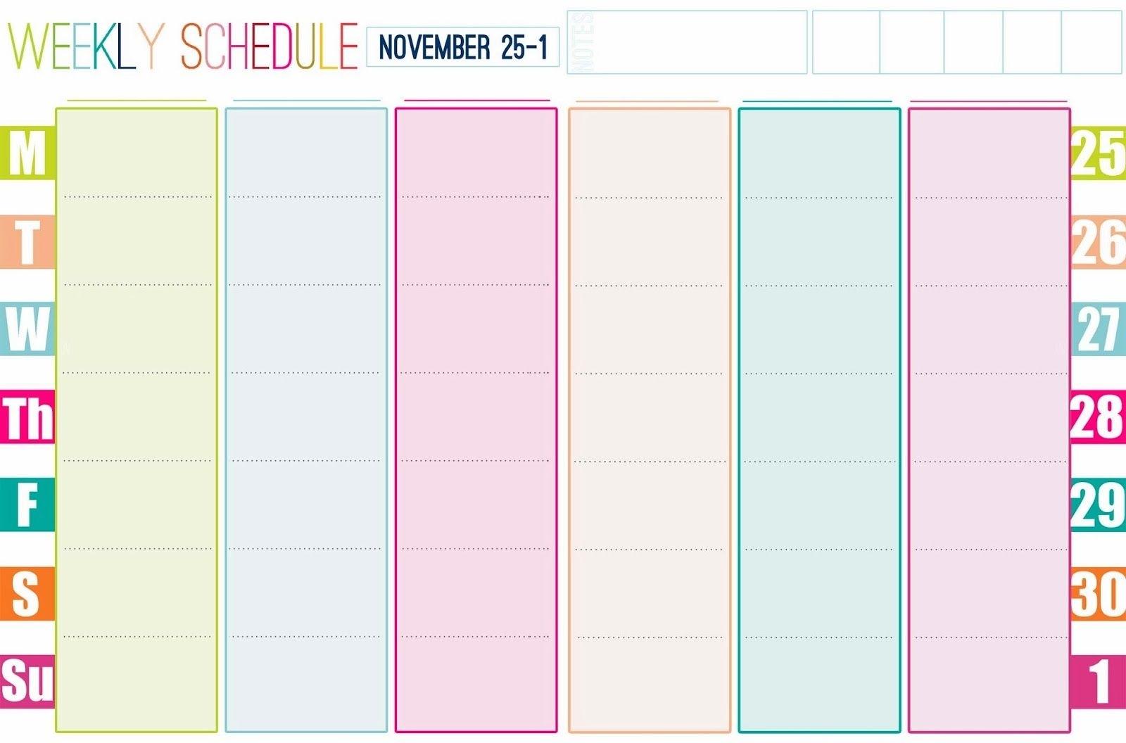 cute blank week calender templates free calendar