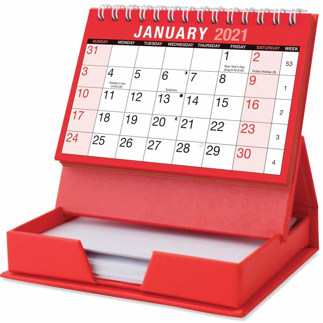 Desktop Calendar With Memo Pad 2021 At Calendar Club