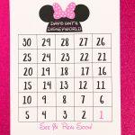 Disney Countdown Calendar Printable Disney Disney World