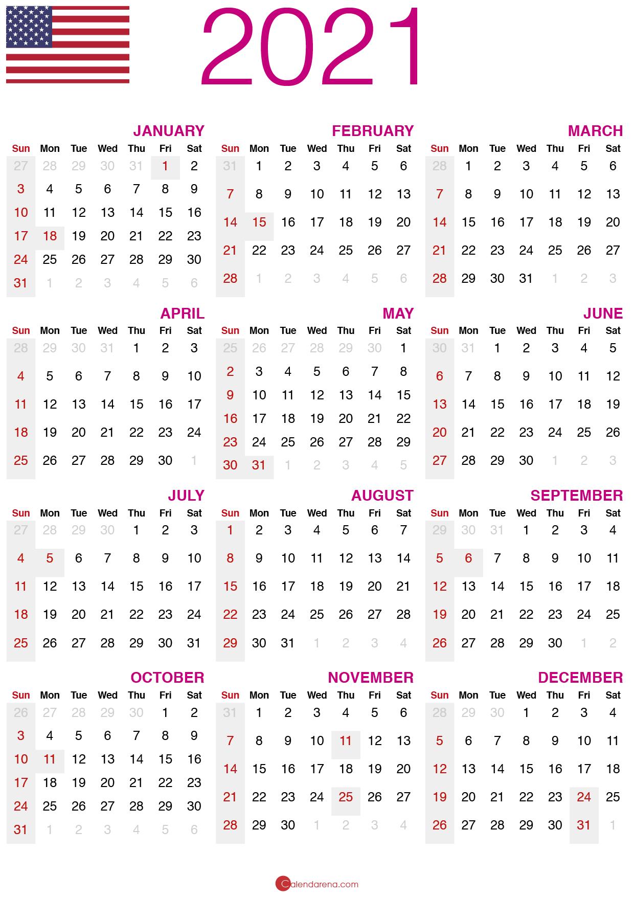 Download Free Printable Calendar 2021 F09f87baf09f87b8